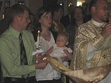 Matthew & Becca are the Godparents