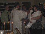 Mom helped put on the Robe of Light