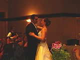 Mr and Mrs Sas dance their first dance as man and wife