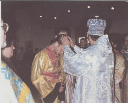 Ordained to the diaconate by Metropolitan Theodosius, March 25, 1988
