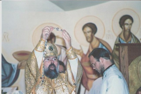 Receiving the Priest's Pectoral Cross from Archbishop Job